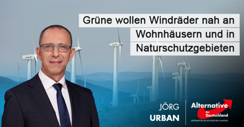 Grüne wollen Windräder nah an Wohnhäusern und in Naturschutzgebieten