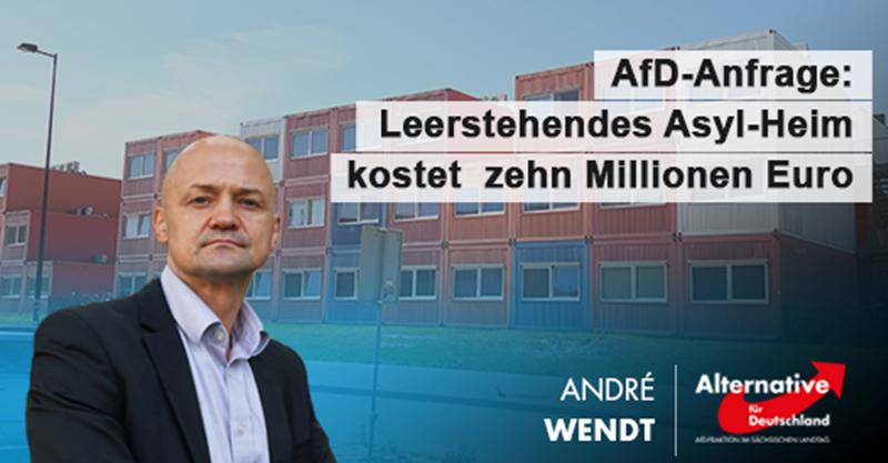 AfD-Anfrage: Leerstehende Asylunterkunft kostet zehn Millionen Euro