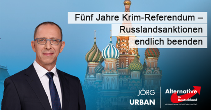 Fünf Jahre Krim-Referendum – Russlandsanktionen endlich beenden