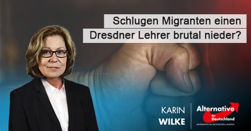 AfD-Anfrage: Schlugen Migranten einen Dresdner Lehrer brutal nieder?