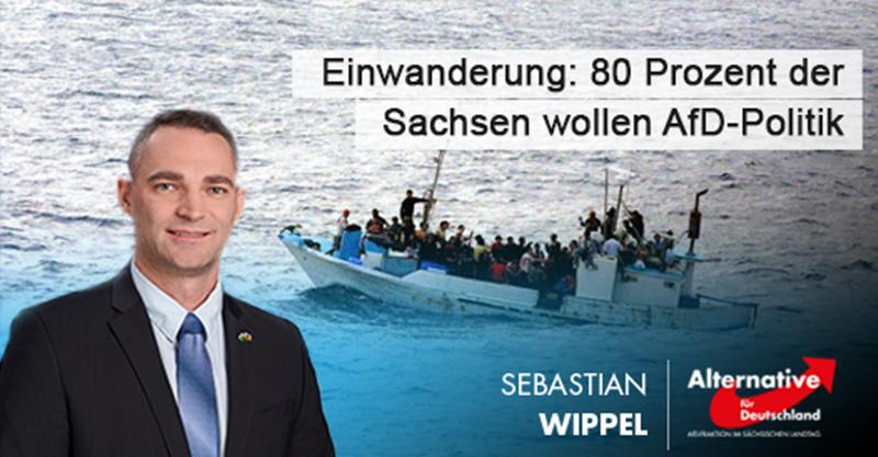 Einwanderung: 80 Prozent der Sachsen wollen AfD-Politik
