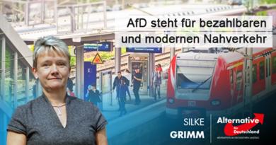 AfD steht für bezahlbaren und modernen Nahverkehr