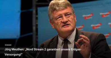 Meuthen kontert Weber: Nord Stream 2 garantiert unsere Erdgas-Versorgung!