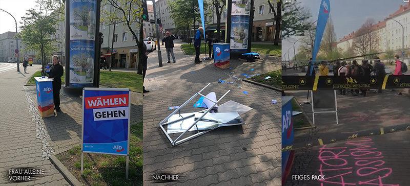 Infostand der AfD Dresden