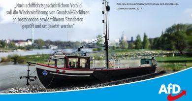 Grundseil-Gierfähren in Dresden einführen