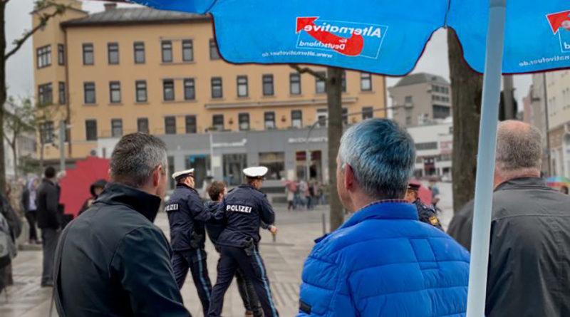 AfD-Abgeordneter Ralf Stadler in Passau am 27.4.19 nach Antifa-Angriff verletzt