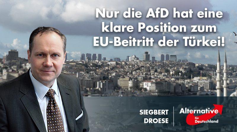 Nur die AfD hat eine klare Position zum EU-Beitritt der Türkei!