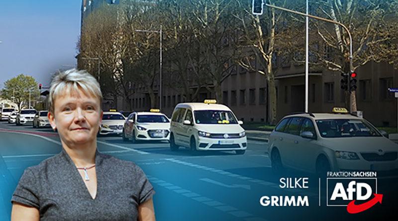 AfD unterstützt als einzige Partei im Sächsischen Landtag Demonstration sächsischer Taxifahrer!