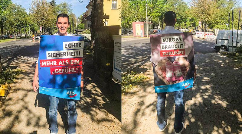 AfD Wahlkampf in Dresden