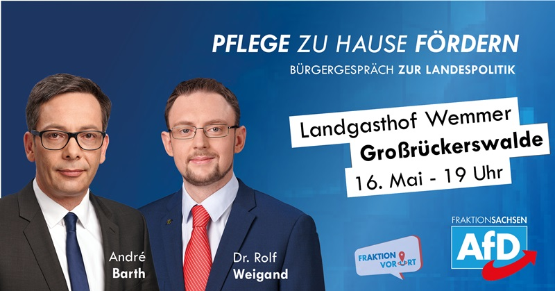 Bürgergespräch zur Landespolitik, Andrè Barth, Dr. Rolf Weigand