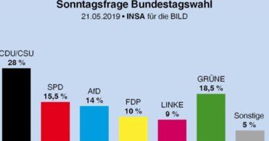Neue Umfrage sieht AfD bei 14 Prozent!