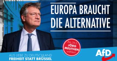 """Meuthen heute im ARD """"Gipfeltreffen Europa"""" um 21 Uhr im Ersten"""