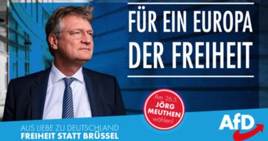 Meuthen heute im ZDF um 20:15 Uhr