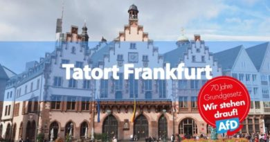 Frankfurt plant EU-Veranstaltung ohne AfD, um dann die Chose abzusagen
