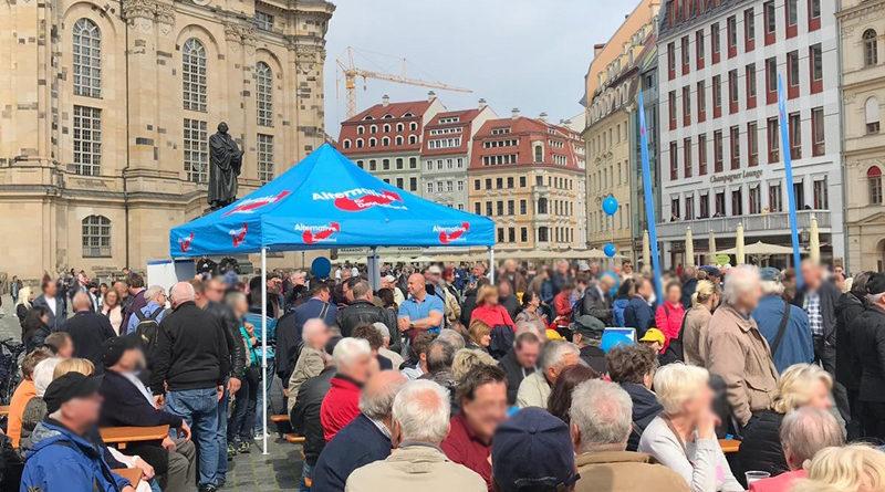1. Mai in Dresden, Bild: AfD