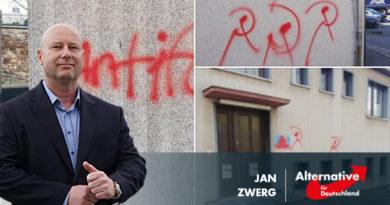 Linker Terror: Privathaus von AfD-Abgeordneten angegriffen