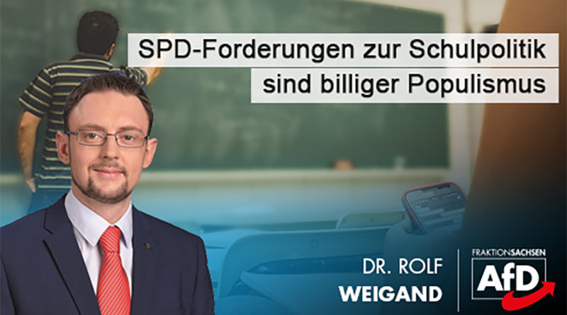 SPD-Forderungen zur Schulpolitik sind billiger Populismus
