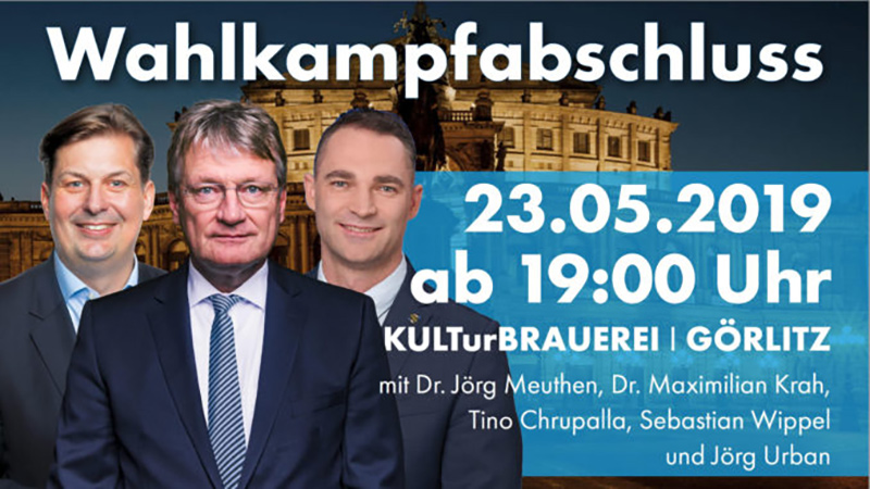 Meuthen, Krah, Chrupalla, Wippel & Urban am 23.5. in Görlitz