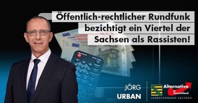 Öffentlich-rechtlicher Rundfunk bezichtigt ein Viertel der Sachsen als Rassisten!