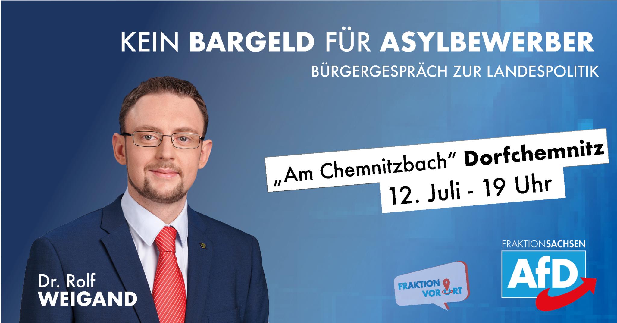 AfD-Landtagsfraktion vor Ort mit Dr. Rolf Weigand