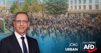 """Bundesregierung muss zugeben: """"Hetzjagden"""" in Chemnitz gab es nicht – AfD-Chef Urban: Entschuldigung überfällig!"""