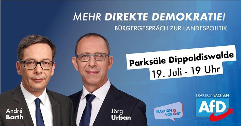 AfD Fraktion Sachsen vor Ort – Das Bürgergespräch zur Landespolitik