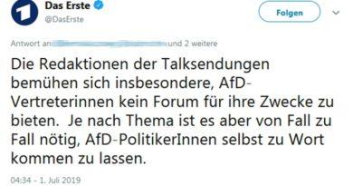 """""""AfD kein Forum bieten"""" – Ein ARD-Tweet spricht Bände!"""