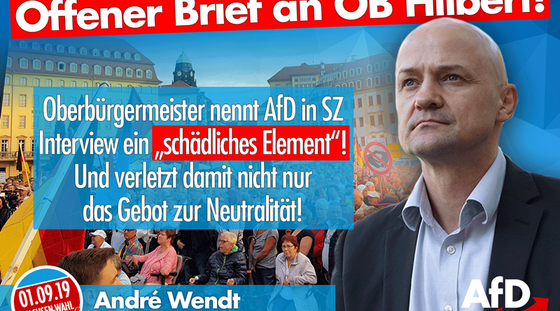 offenen Brief an Dresdens OB Dirk Hilbert