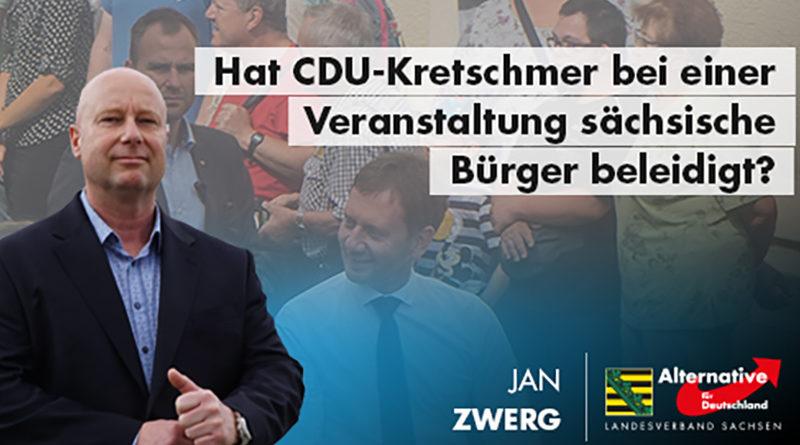 Hat CDU-Kretschmer bei einer Veranstaltung sächsische Bürger beleidigt?
