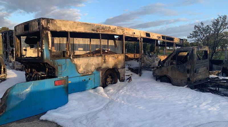 Schwerer Brandanschlag auf AfD-Fahrzeugpark