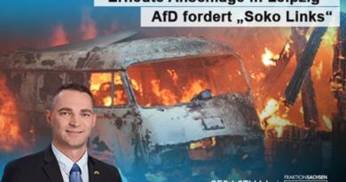 "Erneute Anschläge in Leipzig – AfD fordert ""Soko Links"""
