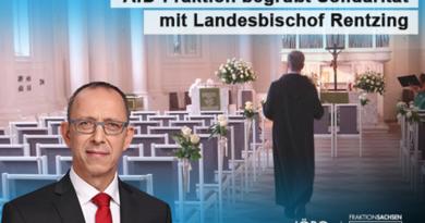 AfD-Fraktion begrüßt Solidarität mit Landesbischof Rentzing