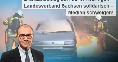 Brandanschlag auf AfD in Thüringen – Landesverband Sachsen solidarisch – Medien schweigen!