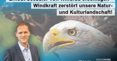 Erneut Seeadler von Windrad erschlagen - Windkraft zerstört unsere Natur- und Kulturlandschaft!