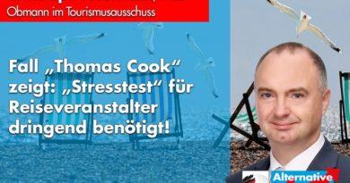 """Fall """"Thomas Cook"""" zeigt: """"Stresstest"""" für Reiseveranstalter dringend benötigt!"""