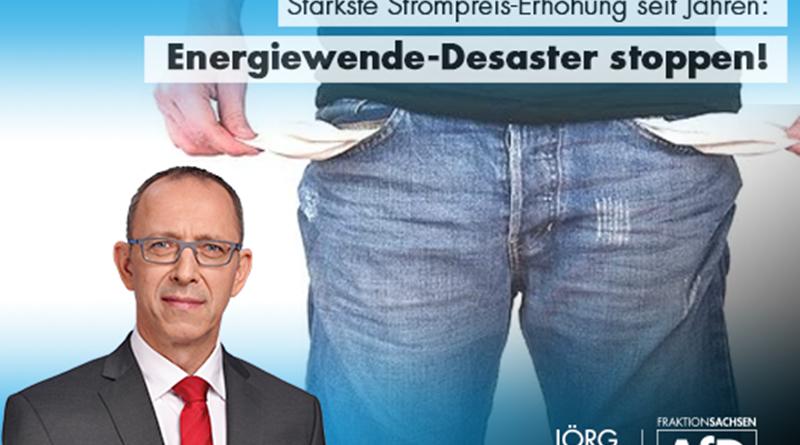 Stärkste Strompreis-Erhöhung seit Jahren – Energiewende-Desaster stoppen!