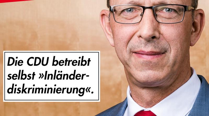 """Die CDU betreibt selbst """"Inländerdiskriminirung"""""""