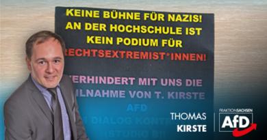 AfD-Politiker Kirste auf Uni-Veranstaltung, trotz linker Störenfriede