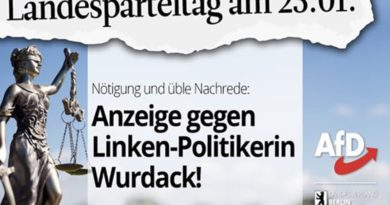 Nötigung: AfD-Berlin stellt Strafanzeige gegen Irmgard Wurdack