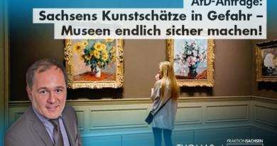 AfD-Anfrage: Sachsens Kunstschätze in Gefahr – Museen endlich sicher machen!