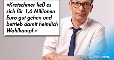 MP Kretschmer ließ es sich für 1,6 Millionen Euro gut gehen und betrieb damit heimlich Wahlkampf