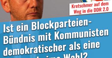 Ist ein Blockparteien-Bündnis mit Kommunisten demokratischer als eine freie, geheime Wahl?