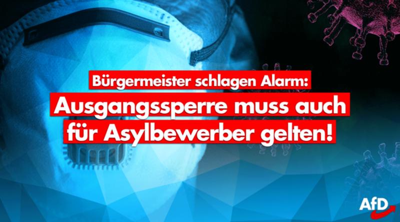 """Kontaktverbot auch zu Eurem Schutz, liebe """"Flüchtlinge""""!"""