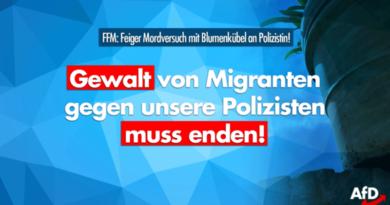 Mordversuch an Polizistin in Frankfurt/M. – Afrikaner wirft Blumenkübel von Brücke