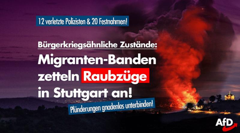 Bürgerkriegsähnliche Zustände in Stuttgart!
