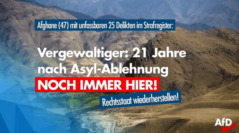 21 Jahre nach abgelehntem Asylantrag: Vergewaltiger immer noch in Deutschland!