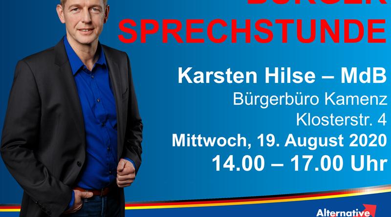 Bürgersprechstunde mit Karsten Hilse (MdB)