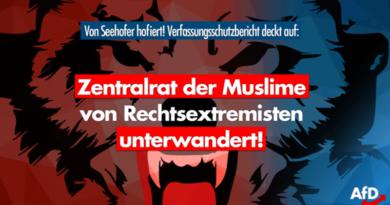 Islamisten und Rechtsextreme: Seehofer paktiert mit extremistisch unterwandertem Islam-Zentralrat!