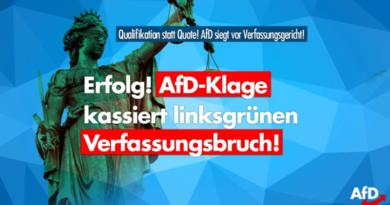 AfD-Klage erfolgreich: Verfassungsgerichtshof kippt Quote für Landtagswahlen!