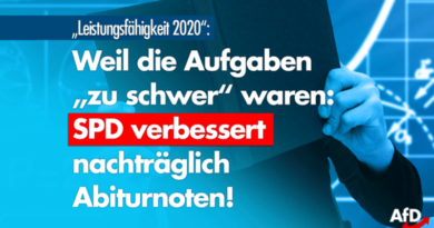 """Aufgaben angeblich """"zu schwer"""": SPD verbessert nachträglich Abiturnoten!"""
